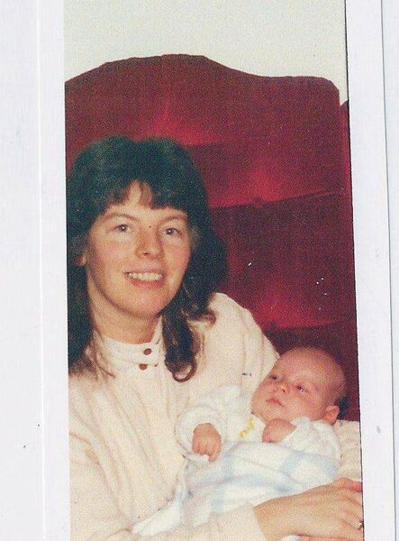 Kathleen Healy and baby Alan in 1989.