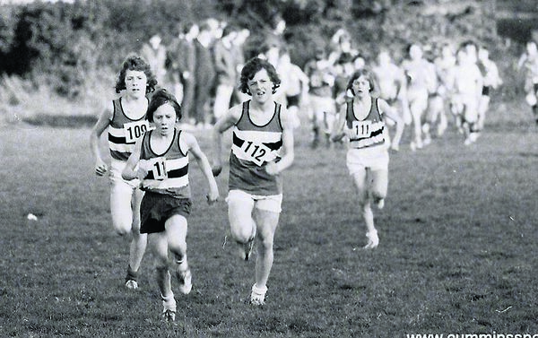 Marcus O'Sullivan leading out his team-mates during the race in Rochestown in 1975.