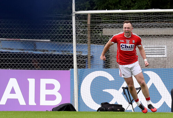 Cork's Paul Kerrigan celebrates after scoring from a tight angle against Tipp. Picture: INPHO/Tommy Dickson