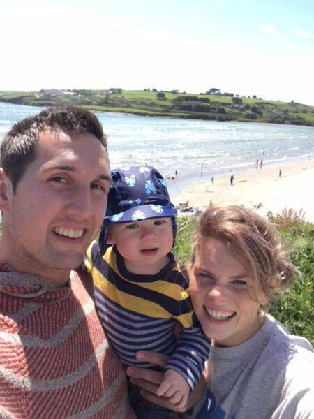 Maggie O'Leary and her husband Brian and son Finn