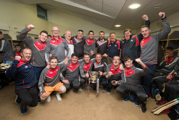 The minor management celebrate in the dressing room. Picture: INPHO/Ryan Byrne