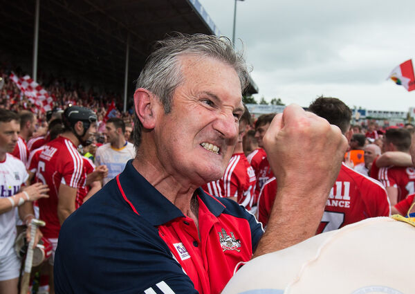 Cork manager Kieran Kingston celebrates. Picture: INPHO/Cathal Noonan