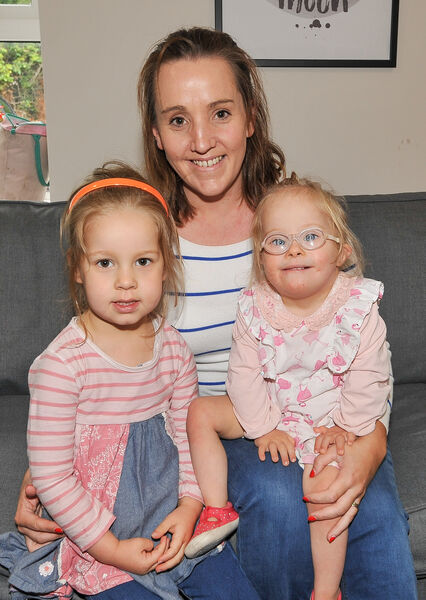 Joanne, Olivia and Kate Hegarty from Ballynoe, at one of the coffee mornings at the Down Syndrome Centre Cork on Forge Hill.Picture: David Keane.