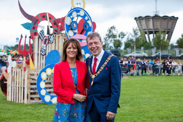 "Lord Mayor of Cork, Tony Fitzgerald with Lady Mayoress Georgina Fitzgerald (left), pictured at the Bonfire night ""Family Fun Event"" in Kilmore Rd, Cork.Picture: Michael O'Sullivan/OSM Photography"
