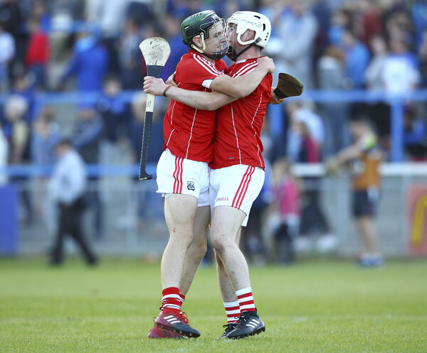 Eoghan Murphy and Mark Coleman celebrate. Picture: INPHO/Ken Sutton