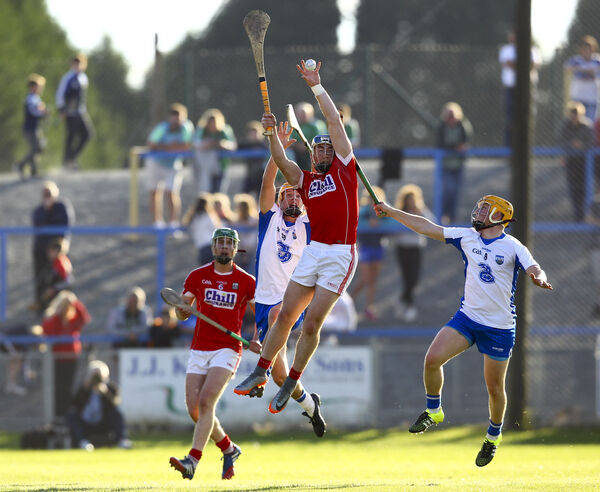 Sean O'Donoghue wins the ball in the air. Picture: INPHO/Ken Sutton
