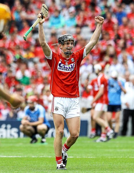 Daire Connery celebrates at the final whistle last weekend. Picture: INPHO/Lorraine O'Sullivan