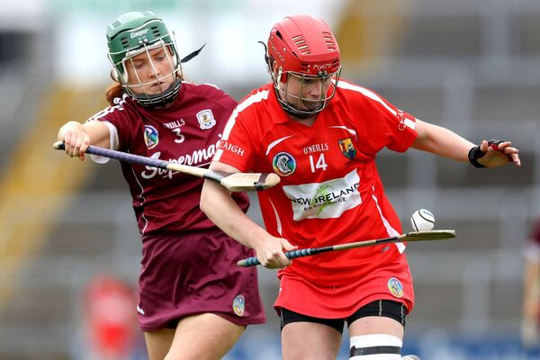 Niamh McCarthy and Roisin Black of Galway. Picture: INPHO/Bryan Keane