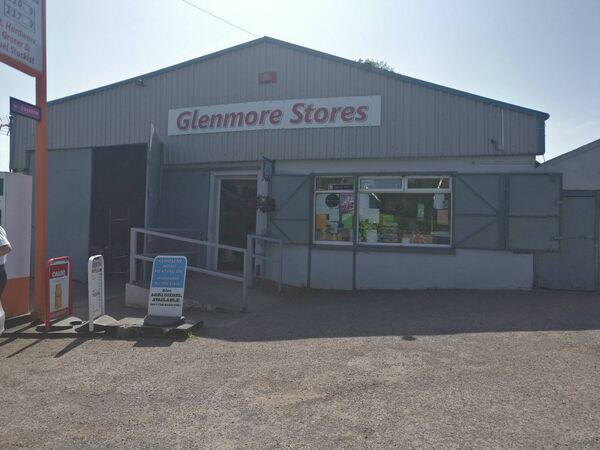 Glenmore Stores, near Knockraha, which was one of three shops hit by raiders yesterday. Pic Roisin Burke