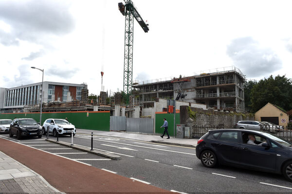 The new student accommodation building going up on the old Muskerry service station site on the Western Road, Cork. Picture Dan Linehan