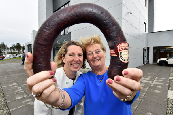 Tara McCarthy, Chief Executive of Bord Bia with Colette Twomey, Chief Executive and Co-Founder at the opening of the new Clonakilty Food Company factory in Clonakilty. Picture Dan Linehan