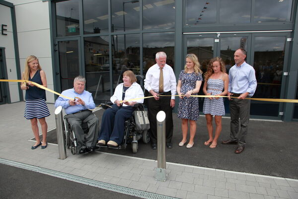 Lizzie Lee, John Twomey, Cathy Dunne Fitzgerald, Donie Walsh, Ailish McSweeney, Michelle Finn and Marcus O'Sullivan officially cut the ribbon.