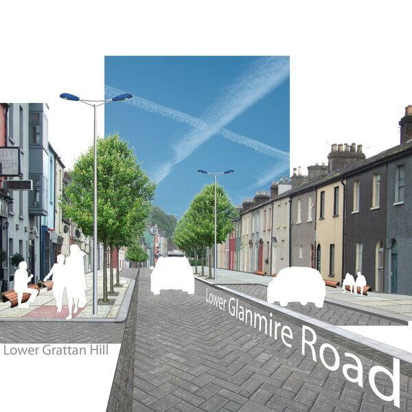 Artists impressions from the city's 2012 docklands public realm report showing how streets in the new docklands development might look.