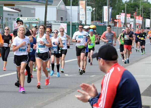 Participants on the Carrigrohane Road during the Irish Examiner Cork City Marathon. Picture: Denis Minihane.