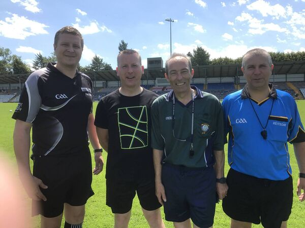 Gardaí Cormac Dineen, Damien Craven and Sargents Chris Cronin and Brendan Barry-Murphy who officiated at the John Kerins Tournament.