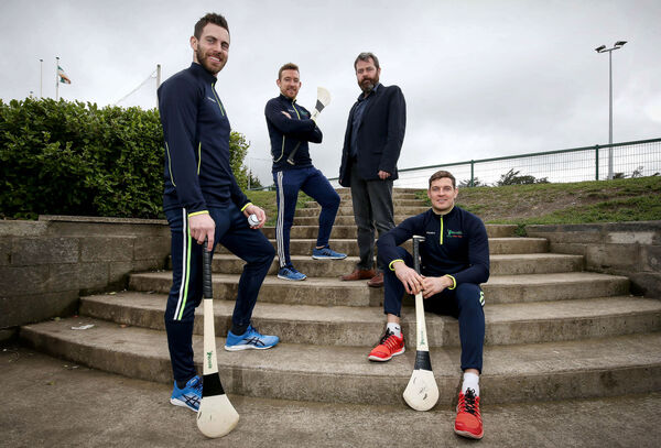 Seamus Callanan, Richie Hogan, Neil McManus and Barry Reynolds at the launch of the new composite hurley. Picture: INPHO/Presseye