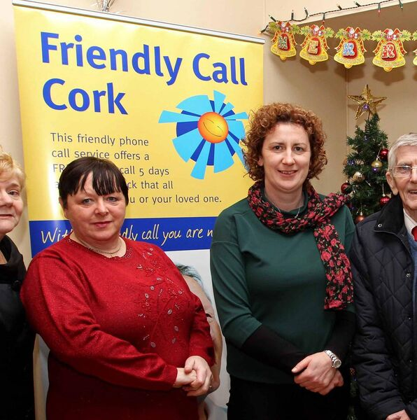 Teresa Stokes, Friendly Call Cork Volunteer, with Brenda Barry, Friendly Call Cork Development Worker. Pic: Jim Coughlan