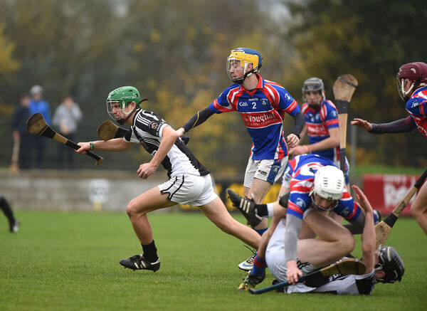 Brian Turnbull in Harty Cup action for Rochestown College. Picture: Larry Cummins