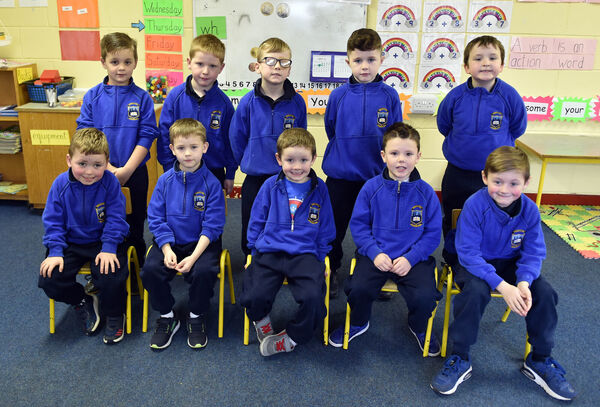Sunday's Well Boys NS pupils, front, Sean O'Sullivan, Mason Good-Murphy, Reece O'Donovan, Dylan Barry and Jake Power, back from left, Shane O'Brien, Jake McQuillan, Calvin O'Dea, Calvin Peyton -Blake and Ruairi O'CallaghanPicture: Eddie O'Hare