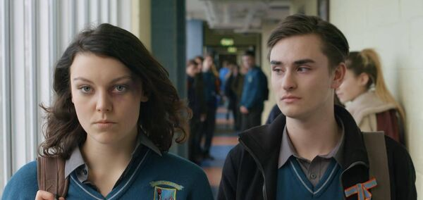 MAIN STARS: Clara Harte and Dean Quinn in the leading roles of Lily and Simon, in the film Lily.