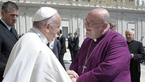 Bishop of Cork, Dr Paul Colton meets Pope Francis