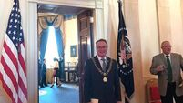 Lord Mayor jets back after his visit to the White House