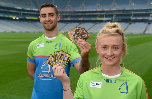 Dublin's James McCarthy and Carla Rowe in attendance at the Cúl Heroes launch. Picture: Piaras Ó Mídheach/Sportsfile