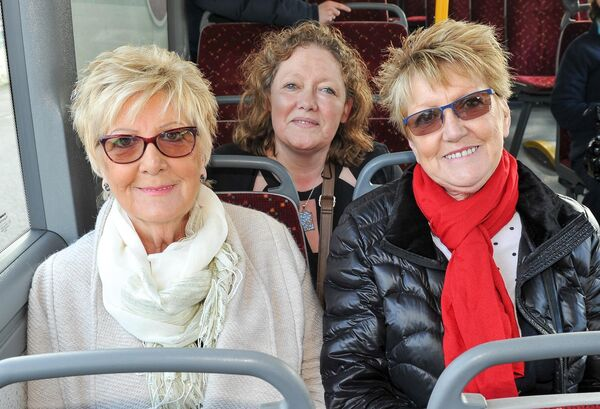 Anna and Norma Downey from Gurranabraher and Amanda Kent from Grimsby, centre. Picture: David Keane.