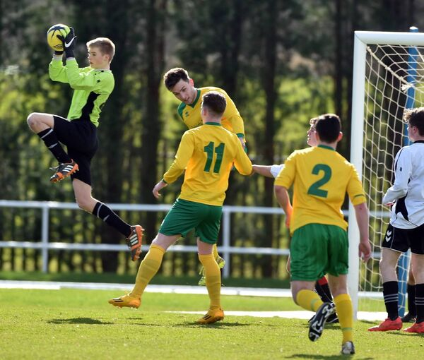 PBC's goalkeeper Caoimhin Kelleher gathers the ball in 2015. Picture: Eddie O'Hare