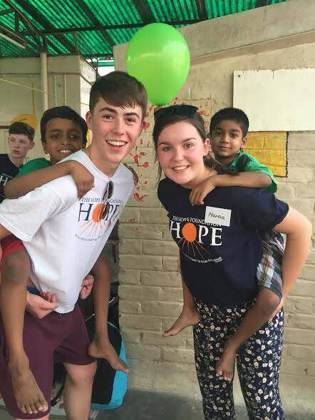 Dean Mac an t-Sabhasaigh from Youghal and Marcia Ní Mhóinséil from Killeagh on their recent trip to Kolkata with The Hope Foundation.