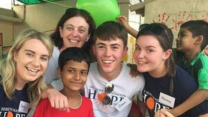 Youghal students in Kolkata with Hope