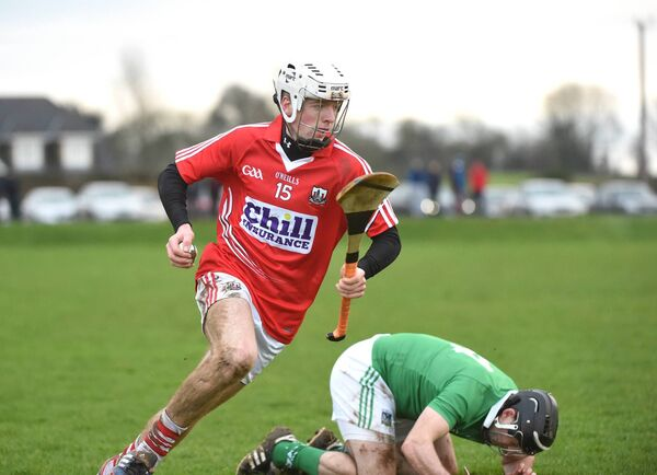 Luke Meade in the 2015 challenge against Limerick. Picture: Larry Cummins