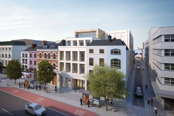 A €30m office scheme proposed for Cork city's South Mall, on a site bounded by Smith Street, Phoenix Street, and Crane Lane.
