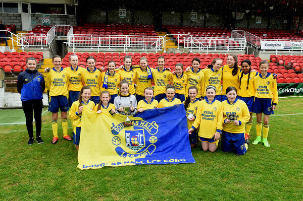 The Douglas Hall CWSSL U14 Cup final winners celebrate after the game against Fermoy. Picture: Larry Cummins