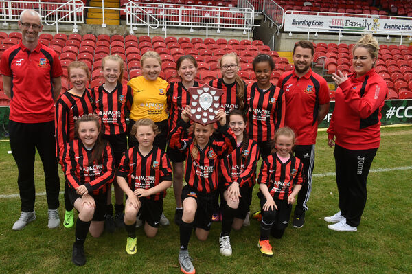 Ringmahon Rangers U12 with the U12 Premier League trophy. Picture: Larry Cummins