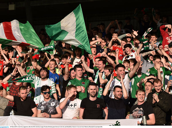 Cork City supporters. Picture: Diarmuid Greene/Sportsfile