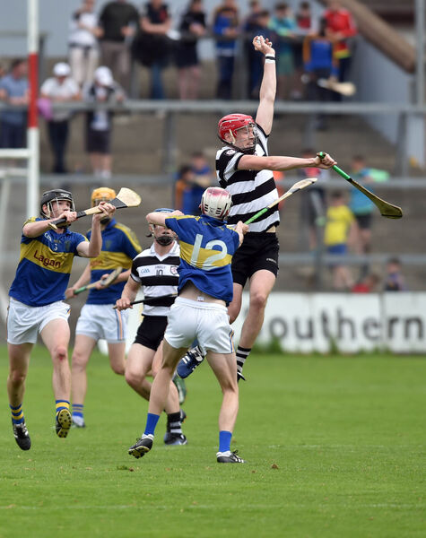 Midleton's James Nagle wins the ball from Carrigtwohill's Sean Rohan.Picture: Eddie O'Hare