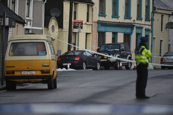 The scene of the fatal shooting in Blackpool. Pic; Larry Cummins