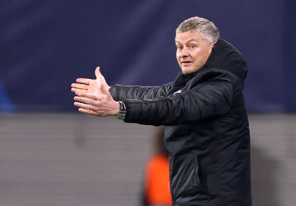 Manchester United manager Ole Gunnar Solskjaer during the Champions League match at Red Bull Arena, Leipzig, Germany.
