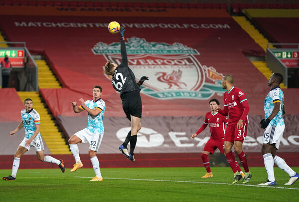 Liverpool goalkeeper Caoimhin Kelleher. Picture: PA Photo.