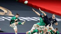 Conor Murray clears the ball despite Scott Cummings 5/12/2020
