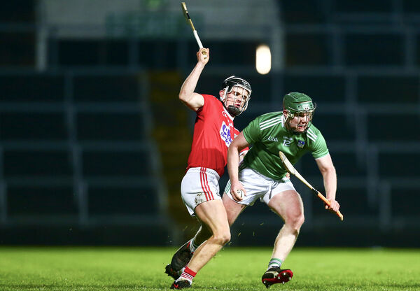 Limerick's Jack Ryan battling Daire Connery. Picture: INPHO/Ken Sutton