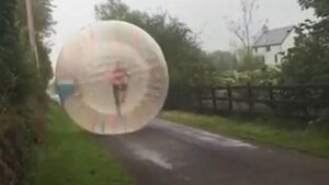 Corkman enters Guinness Book of Records for 'zorbing'