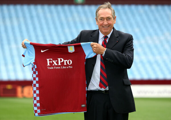 File photo dated 10-09-2010 of New Aston Villa manager Gerard Houllier. PA Photo. Issue date: Monday December 14, 2020. Tributes have been paid to former Liverpool manager Gerard Houllier, who has died at the age of 73. See PA story SOCCER Houllier. Photo credit should read David Davies/PA Wire.
