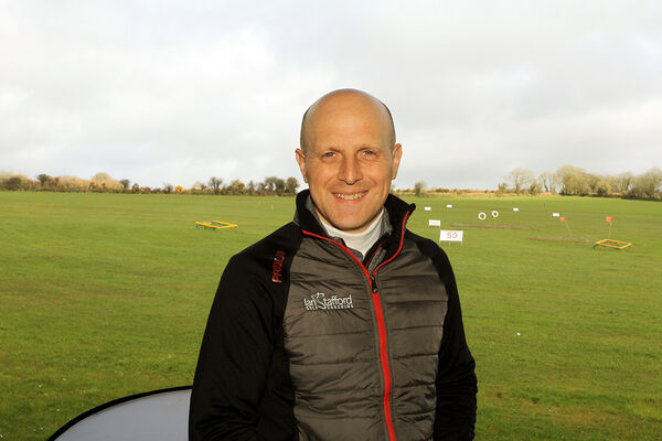Ian Stafford, pictured at his base in Innishannon Driving Range. Ian currently also work from Lee Valley and Kinsale golf clubs. Piture: Niall O'Shea