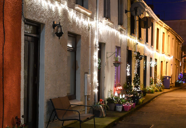 The Christmas lights of Needham Place off Dunbar Street. Picture: David Keane