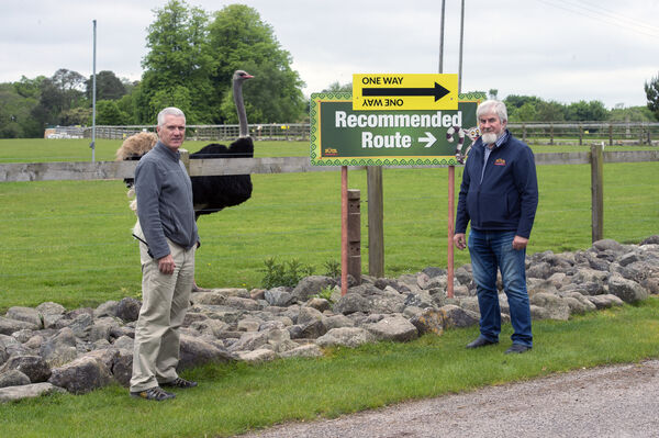 Declan O'Donovan, animal care manager and Sean McKeown, director at Fota Wildlife Park, Cork,
