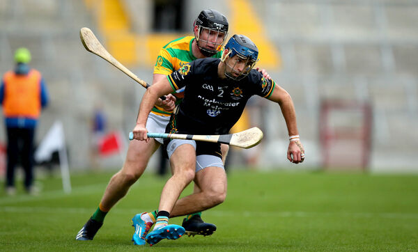 Stephen McDonnell of Glen Rovers and Mark O'Keeffe of Blackrock. Picture: INPHO/Ryan Byrne