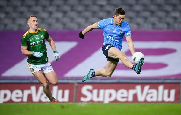 Con O'Callaghan of Dublin in action against Ronan Ryan of Meath. Picture: Stephen McCarthy/Sportsfile
