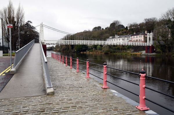 The reopening of the repaired and refurbished Daly's Bridge (Shakey Bridge) in Cork. Picture: Denis Minihane.